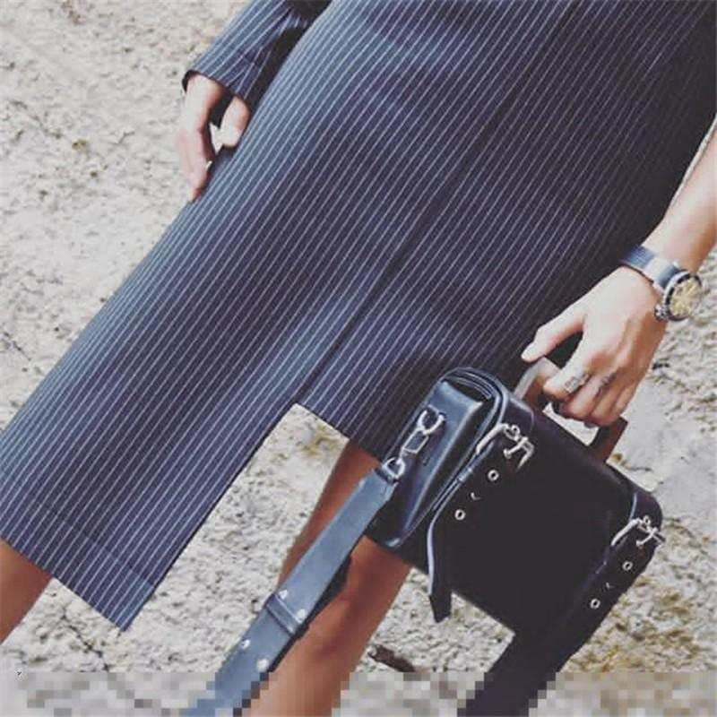 Striped One Shoulder Suspender High Waist Slim Bodycon Mini Dress - mini dress