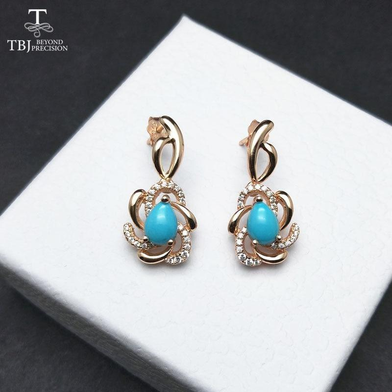 Unique andElegant Turquoise Earring and Ring Jewelry Set - jewelry set
