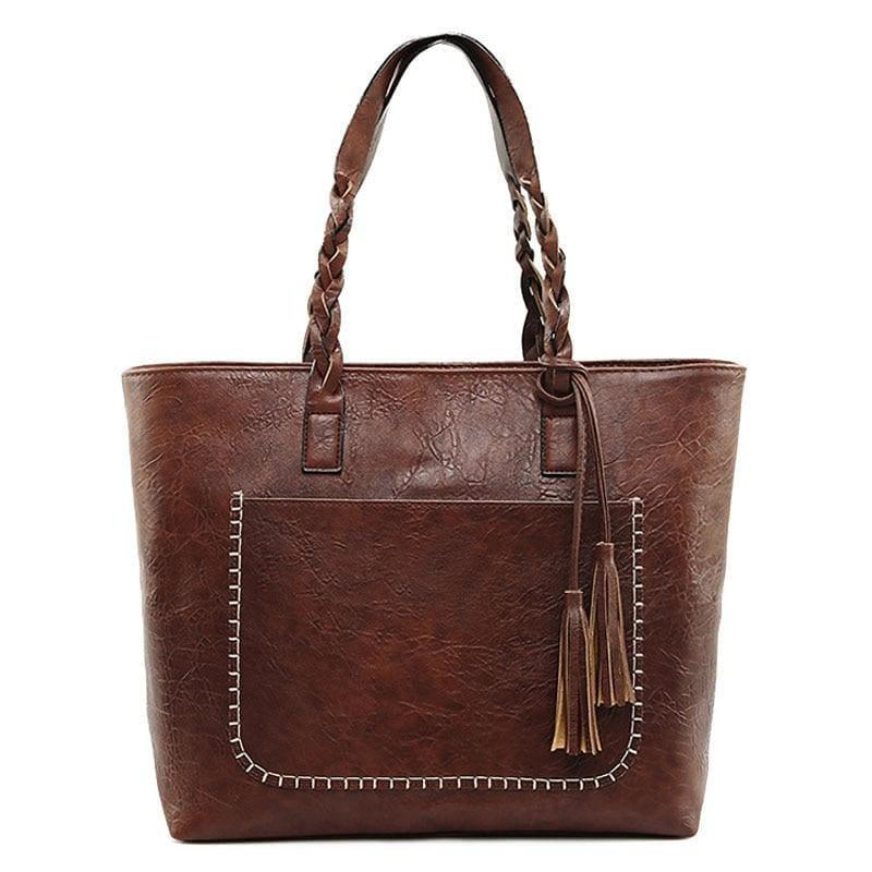 Vintage Handbag Women Leather Shoulder Tote Bag - HandBag
