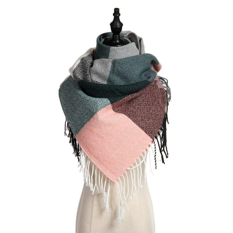 06e536d4a Warm Big Long Scarf Female Luxury Plaid Cashmere Scarf - Scarf. Warm Big  Long Scarf Female Luxury Plaid Cashmere Scarf - Scarf