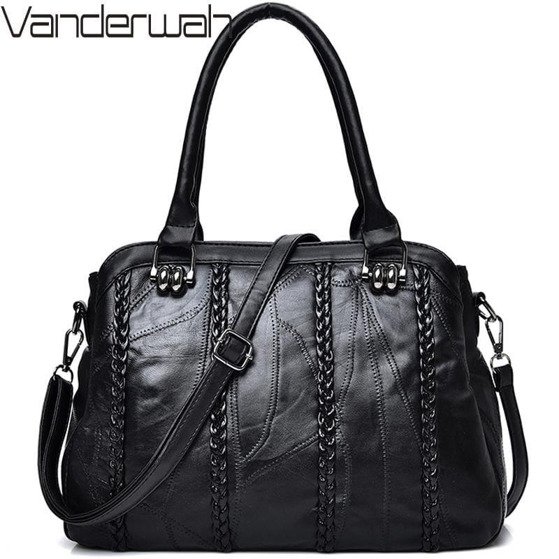 Weave Fashion Genuine Leather Sheepskin WomenHand Bag - HandBag