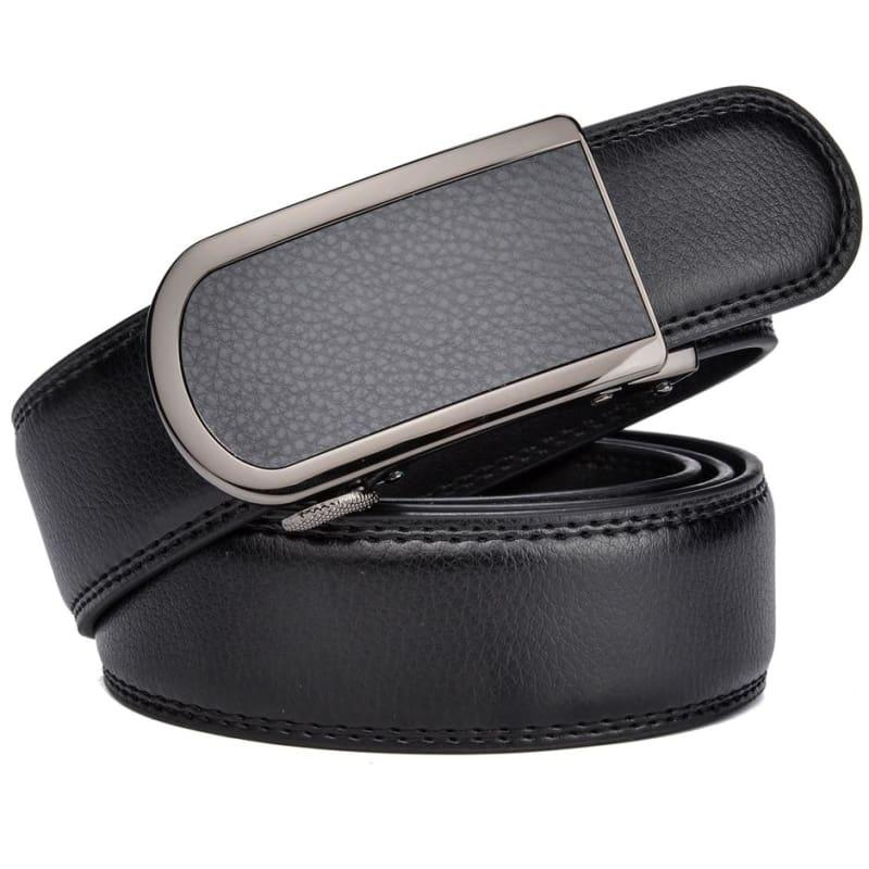Wide Luxury Automatic Buckle Ratchet Dress Belt - belt