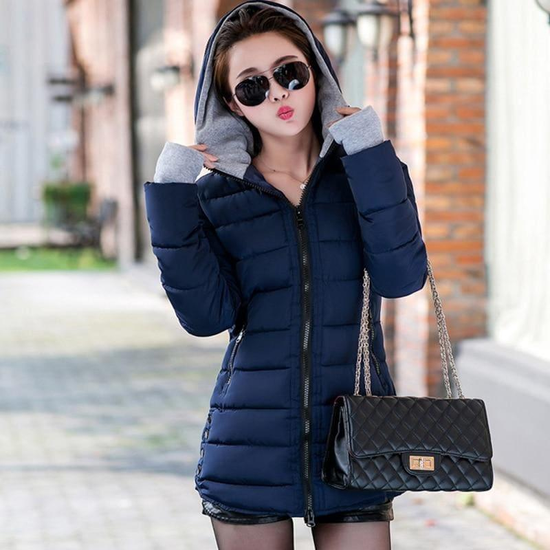 Winter Hooded Warm Candy Color Cotton Paddedcoat - Coats