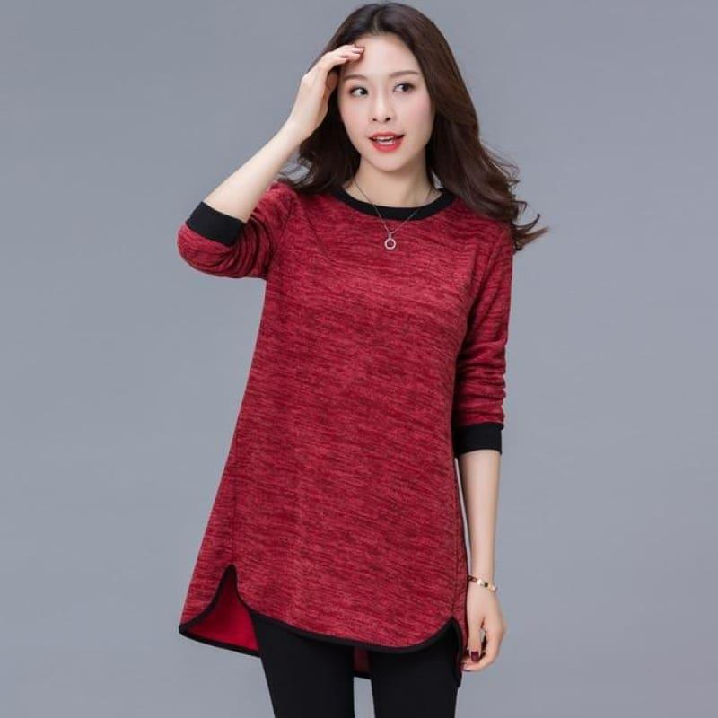Womenlong Sleeve Casual Loose Top - Short Sleeve