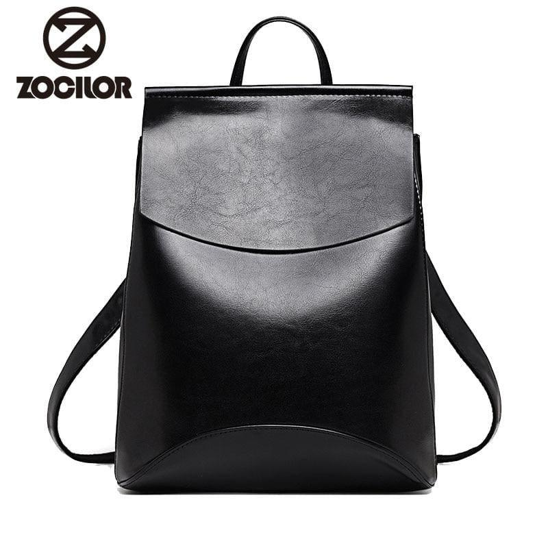 Youth Leather Backpacks Shoulder Bag - Backpacks