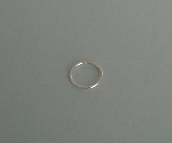 24 Gauge Nose Ring, Nose Hoop, Helix, Tragus, Cartilage, Earring  Sterling Silver 6mm, 7mm, 8mm, 9mm, 10mm
