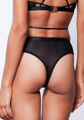 MILA CHEEKY CROSS-OVER G-STRING (Black)