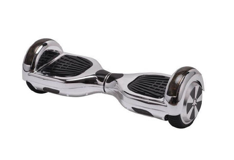 Chrome Silver - 2 Wheel Electric Balance Scooter - Young Adult 6.5""