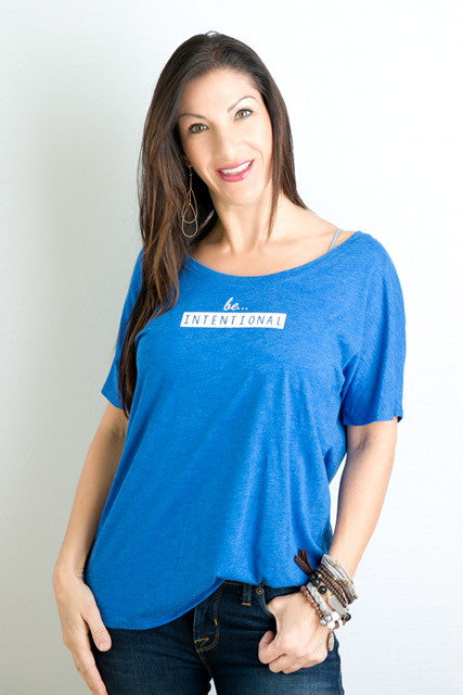 be . . . INTENTIONAL short sleeve tee Royal Blue