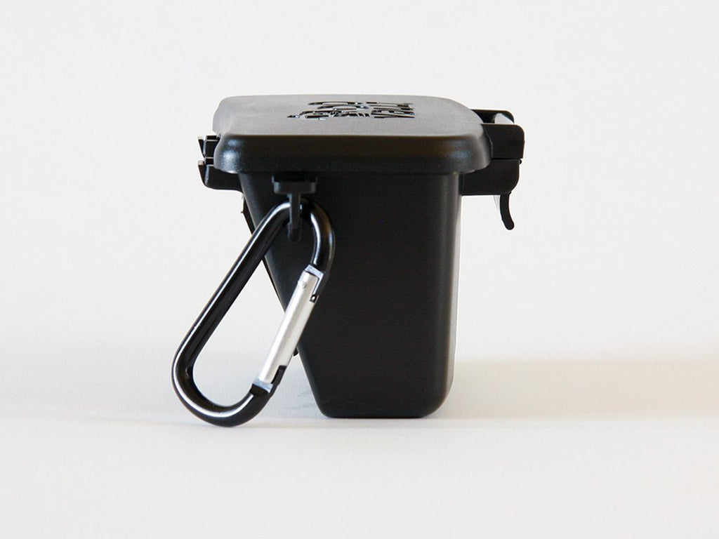 Original Black PooVault with Easy Latch - Dog poop bags