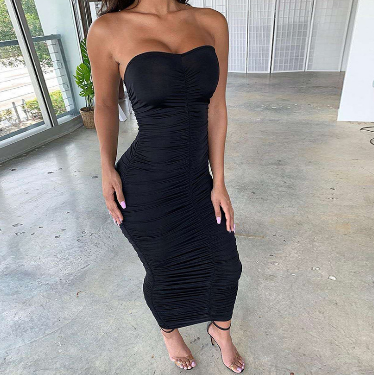 Fashion Women Sleeveless High Waist Dress