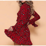 Long-Sleeved Women'S Ruffled Dress