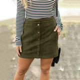 Women'S Solid Color Pocket Skirt