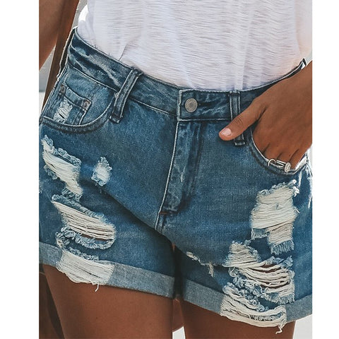 Sexy Hole Night Denim Shorts