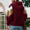 Loose Long-Sleeved Hooded Sweater Coat