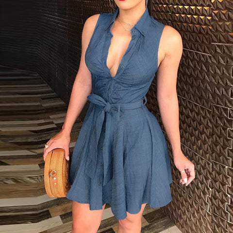 Tight-Fitting Sling Sleeveless Dress