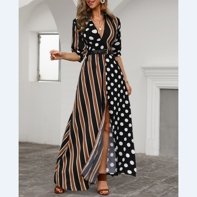 Striped Sexy Women'S Polka Dot Dress