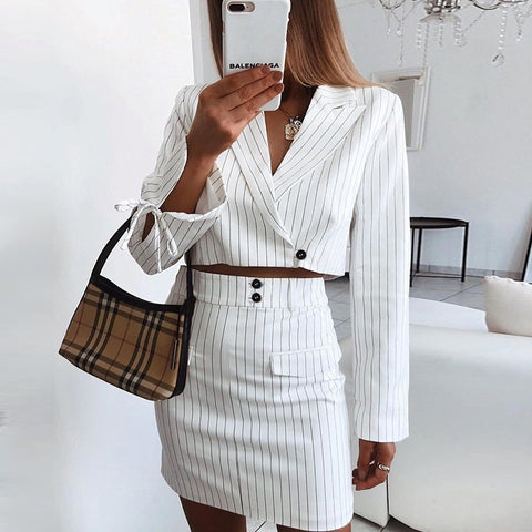 One-Shoulder Sexy Two-Piece Suit