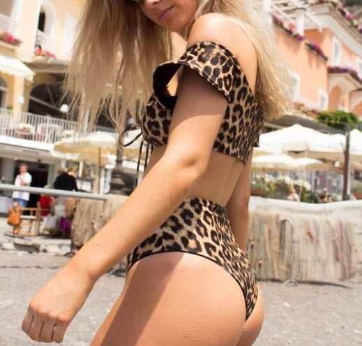Fashion Print Leopard Printed Bikini Swimsuit