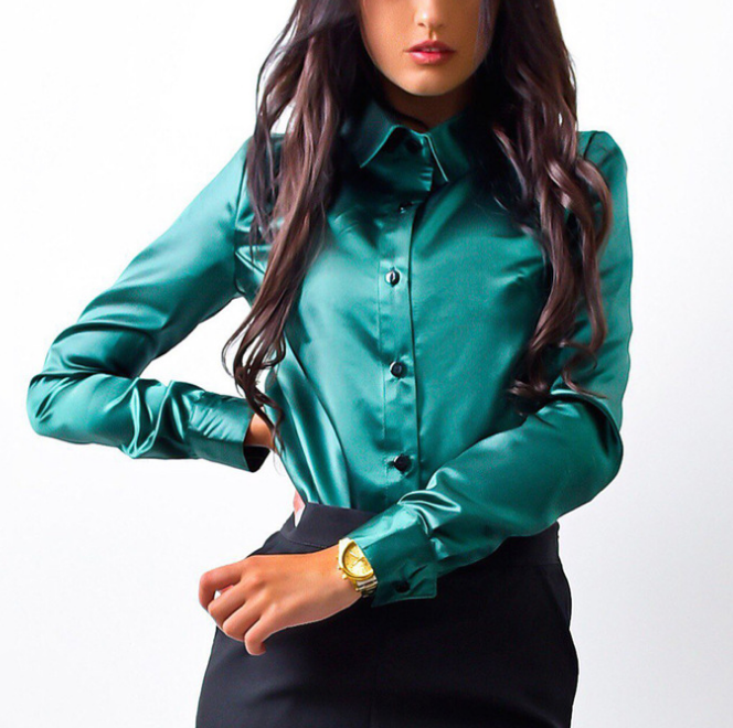 Solid Color Women'S Long Sleeve Shirt