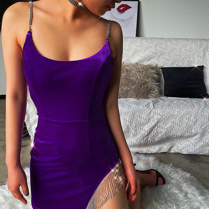 Temperament Sexy Backless Strap Dress
