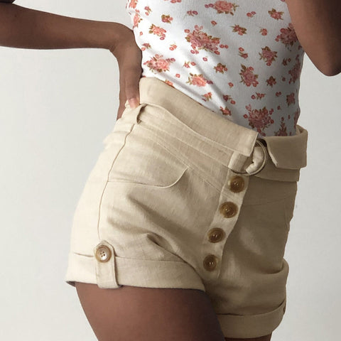 WOMEN PRINTED BEACH SHORTS