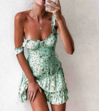 Strapless Women'S Printed Sexy Slim Temperament Dress