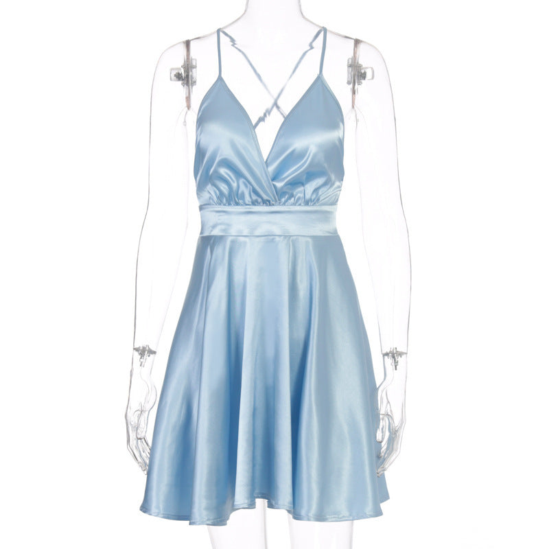 Bowknot Sexy Sleepless Women'S Sling Dress