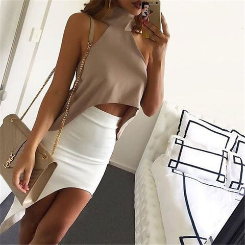 Sexy Round Neck Short Sleeve T-Shirt