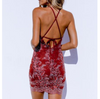 Women's Sexy Lace High Waist Halter Dress