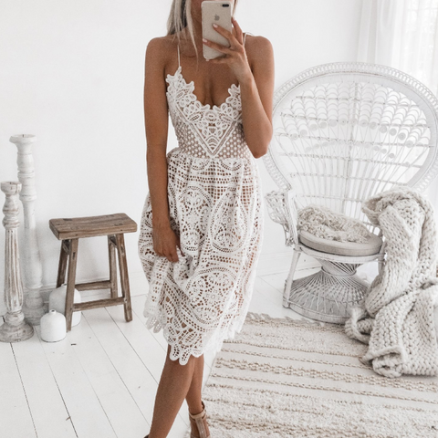 Fashion Embroidered Sleeveless Dress