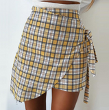 Fashion Chiffon Plaid Skirt