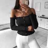 Women'S Sexy Slim Long-Sleeved Top