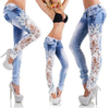 Sexy Design Embroidered Jeans
