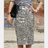 Women'S Sexy Sequins Package Hip Skirt