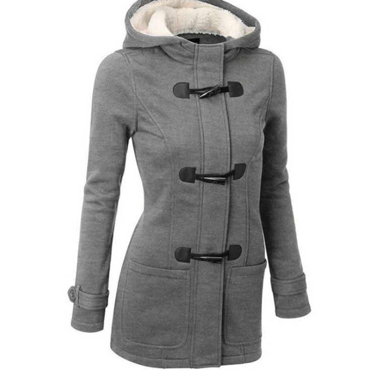 Women'S Long-Sleeved Thick Hooded Jacket