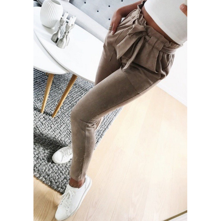 Fashion Slim High Waist Striped Pants