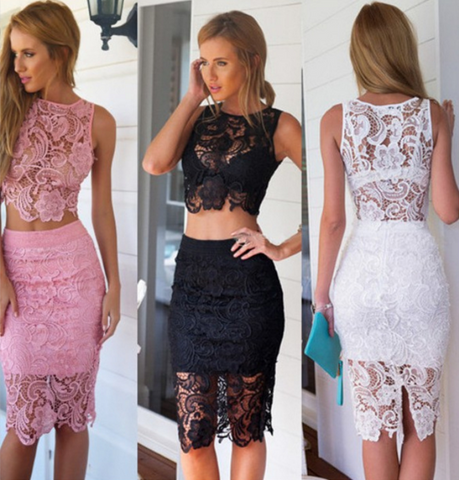 Fashion sexy printing Two-piece dress