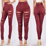 Fashion High Waist Cowboy Trousers