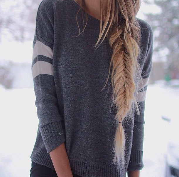 Solid Color Round Neck Knitted Sweater