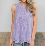 Fashion Lace Vest Sleeveless Tops