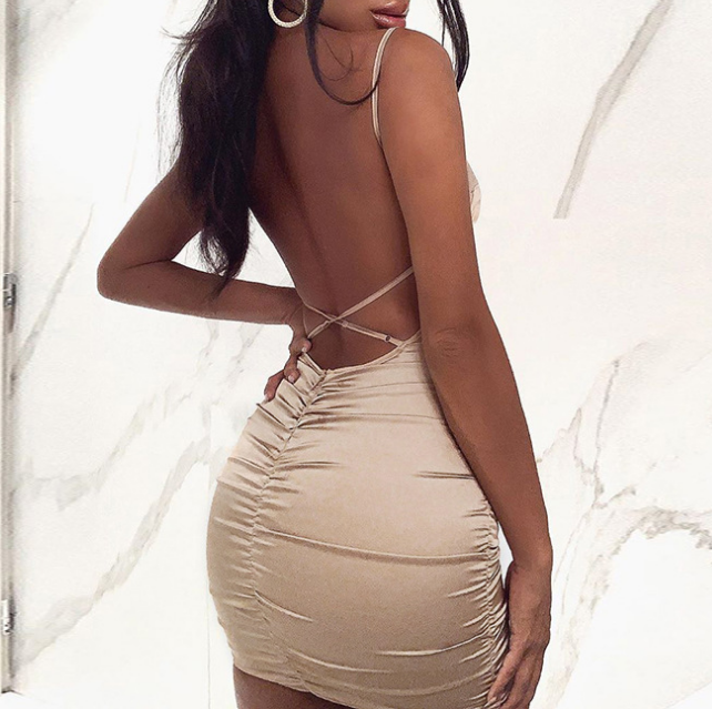 Backless Sexy Temperament Women'S Dress