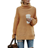 Women'S Loose High-Necked Long-Sleeved Sweater