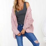 Women'S Loose Bat Sleeve Loose Cardigan Sweater
