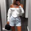 Fashion Sexy Off Shoulder Long Sleeve T-Shirt