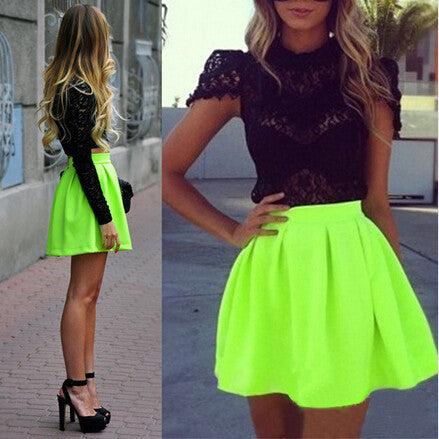 Fashion Plaid High Waist Skirt