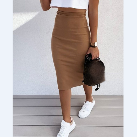 Sexy High Waist Zipper Package Hip Skirts