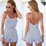 Fashion striped suspenders jumpsuit