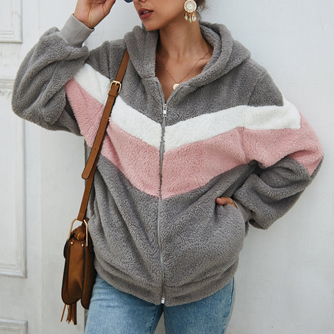 Loose Solid Color Long Sleeve Round Neck Cardigan Coat