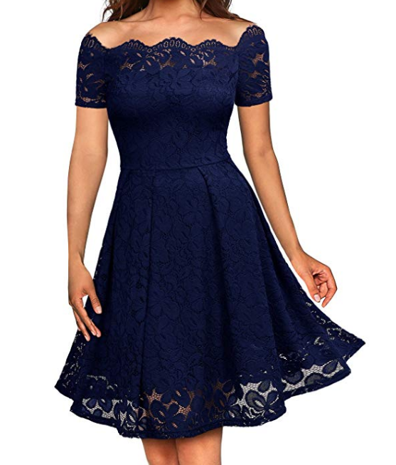 Women's Lace Off-the-shoulder Dress